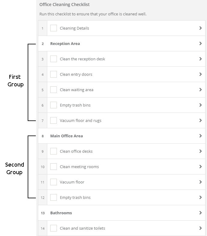 Group Tasks Using Headings For Improved Readability